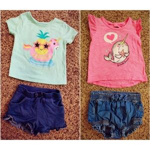 Baby girls Summer outfit bundle!